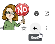 Don't use the reply arrow in Gmail.